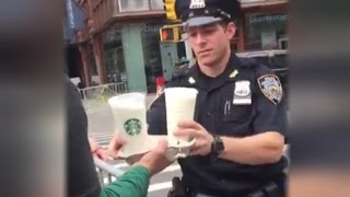 Kind Starbucks Employee Brings Coffee and Pastries to Officers After Explosion