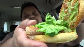 Eating McDonald's Pico Guacamole Artisan Grilled Chicken sandwich & Review