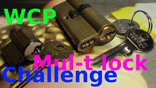 (picking 439) WCP Mul-T lock challenge - picking DAP and esp lock by VDE +funny pin count estimation