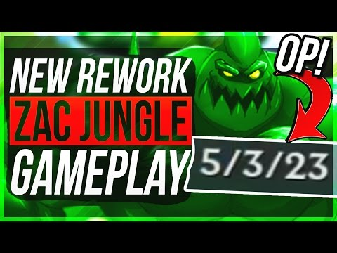 ZAC REWORK NEW Q IS BROKEN LOL WTF Zac Jungle Gameplay League of Legends