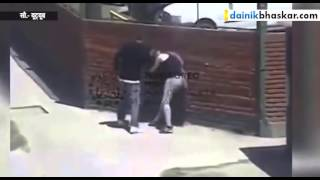 Man Beating Woman On The street Caught on Camera