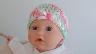 Download Crochet Baby Beanie - Newborn to 12 Months Old Sizes 3Gp Mp4