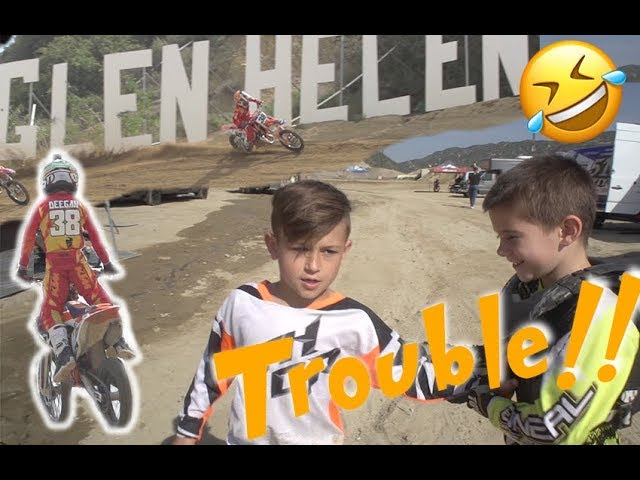Hudson Gets Called Out! Glen Helen Race Day!