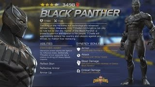 CIVIL WAR BLACK PANTHER BIO AND INFO | MARVEL: Contest of Champions (iOS/Android)
