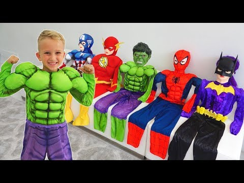 Vlad turns into a superheroes Compilation video for children