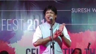 Vijay Prakash performing at Ajivasan Fest, 2015