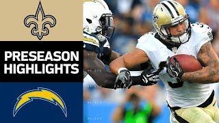 Saints vs. Chargers | NFL Preseason Week 2 Game Highlights