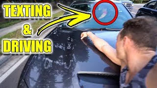 HE HIT ME WITH HIS CAR!!