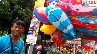 Banyak Mainan Balon Karakter Qyla Beli Balon Karakter Upin dan Dilepas Ke Langit  TumHiHo Busyrolana