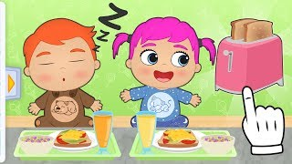BABY ALEX AND LILY 🥐 Learn How to Make Breakfast | Educational Cartoons
