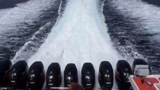 9x300HP Amazing view speed boat Gili Islands Bali Volcano