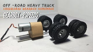 RC Homemade Remote Control Heavy Truck Off-Road GearBox 2Speeds at Home