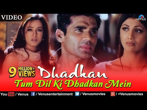 Tum Dil Ki Dhadkan Mein VIDEO Suniel Shetty Dhadkan Singer Kumar Sanu Romantic Song