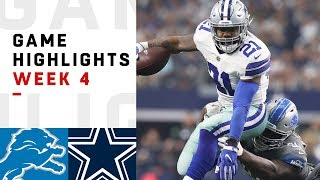 Lions vs. Cowboys Week 4 Highlights | NFL 2018