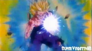 DBZ - SSJ2 Gohan vs Perfect Cell final kamahameha HD