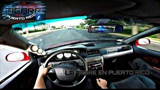 Honda Civic turbo se le va a la fuga a la Policia en Puerto Rico