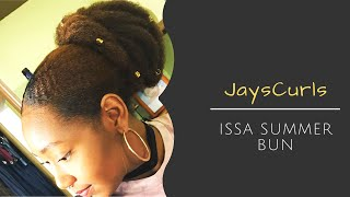 How to: Sleek Low Faux Bun using Marley Hair | Summer Style