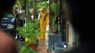 Hot women in yellow saree
