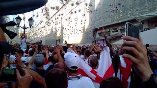 England fans in Moscow. July 11, 2018