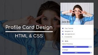 How To Make Profile Card In HTML And CSS | User Profile UI Design Using HTML CSS