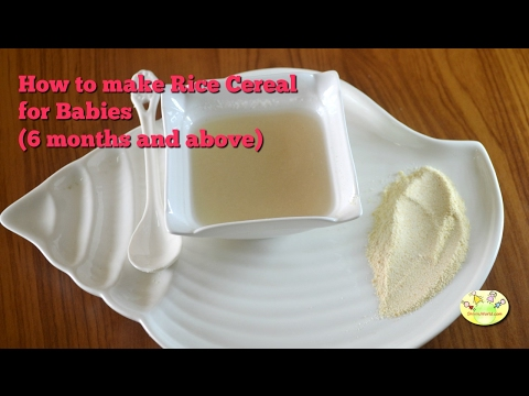 How to make Instant Rice cereal for babies(6+ months) | Baby food recipe - Homemade Cerelac