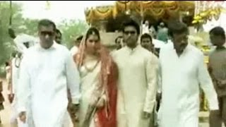 Ram Charan Teja and Upasana perform special pooja before the wedding