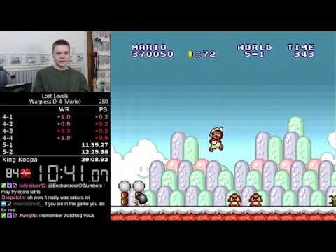 (38:24) Super Mario Bros.: The Lost Levels D-4 Warpless (Mario) speedrun