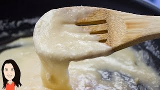 5 Minute Stretchy Melted Vegan Cheese - Great for Pizza, Toasted Sandwiches & Lasagna!