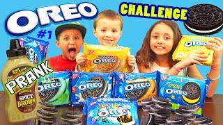 THE OREO CHALLENGE!! w/ SPICY Mustard Cookie Prank! Blindfolded Taste Test (Funnel Vision # 1)