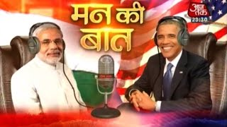 Modi, Obama's 'Mann ki Baat' at 8 pm today