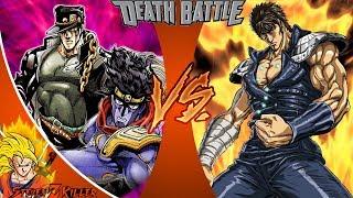 Jotaro VS Kenshiro (JoJo's Bizarre Adventure VS Fist of the North Star) _ DEATH BATTLE! REACTION!!!