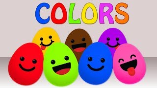 learn colors with eggs | surprise eggs | educational videos for kids