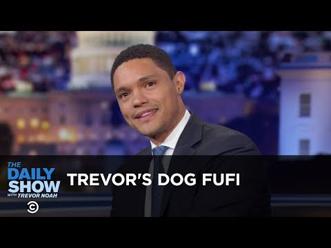 Trevor s Dog Fufi Between the Scenes The Daily Show