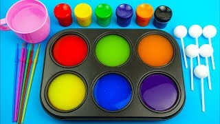 Learn colors for children toddlers and preschool baby with how to make frozen paint for kids