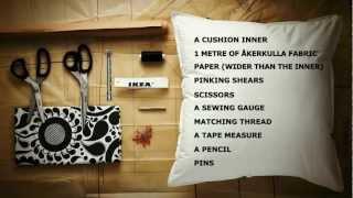How to make an easy envelope cushion using ÅKERKULLA fabric