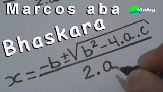FÓRMULA DE BHASKARA   -   matemática