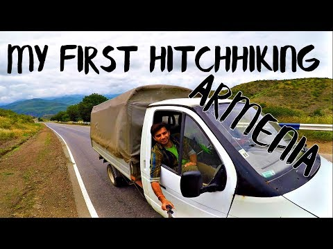 MY FIRST HITCHHIKING IN ARMENIA