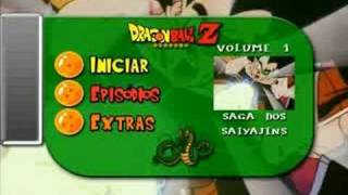Menu de DVD - Dragon Ball Z Volume 1