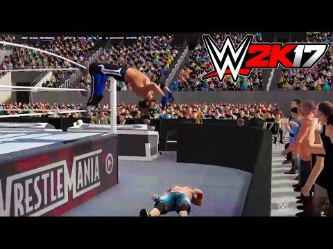 WWE 2K17 AJ STYLES ENTIRE MOVESET!