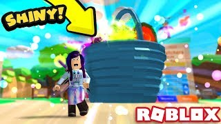 THE SECRET SHINY EASTER BASKET PET IS SO OVER POWERED! | Roblox Bubble Gum Simulator