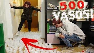LA BROMA DE LOS 500 VASOS DE AGUA A MI NOVIA! (SE ENFADA MUCHISIMO!)