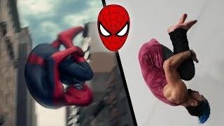 Doing Stunts From The Amazing Spider-Man 2 In Real Life (Marvel)