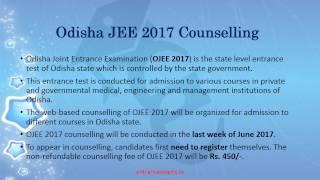 OJEE 2017 Web Counselling