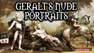 The Witcher 3: Blood and Wine - Geralt's Nude Portraits (All Versions)