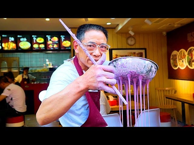 Chinese Street Food - PURPLE NOODLES   CRAZY Street Food in Chongqing - BEST Street Food in China