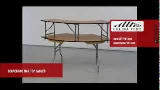 Serpentine Outside Bar Top Plywood Folding Tables