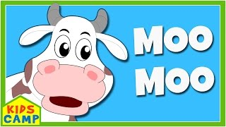 Learn Farm Animals And Animal Sounds   Fun At The Farm With Elly and Eva   Kids Songs By KidsCamp