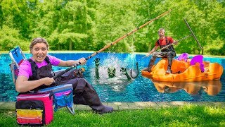 NEW Spy Gadgets to Capture Mystery Pond Monster Creature!! (Exploring Underwater Hideout)