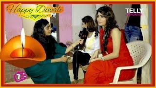 Rajshri Rani Pandey With Suhani Si Ek Ladki Stars Wish Happy Diwali 2016   Fun Interview