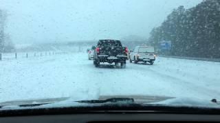 Winter ice storm in Raleigh North Carolina